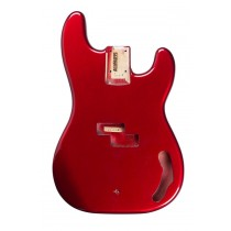ALLPARTS PBF-CAR Candy Apple Red Finished Replacement Body for Precision Bass