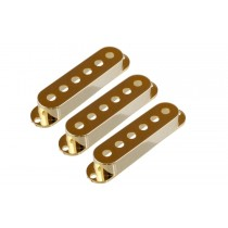 ALLPARTS PC-0406-002 Set of 3 Gold Pickup Covers for Stratocaster