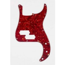 ALLPARTS PG-0750-044 Red Tortoise Pickguard for Precision Bass