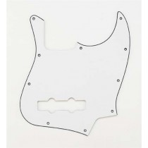 ALLPARTS PG-0755-035 White Pickguard for Jazz Bass