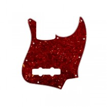 ALLPARTS PG-0755-044 Red Tortoise Pickguard for Jazz Bass
