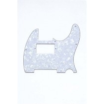 ALLPARTS PG-9562-055 White Pearloid Humbucking Pickguard for Telecaster