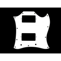 ALLPARTS PG-9803-035 Large White Pickguard for Gibson SG