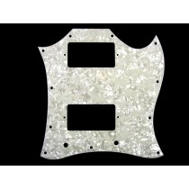 ALLPARTS PG-9803-055 Large White Pearloid Pickguard for Gibson SG