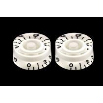 ALLPARTS PK-0130-025 White Speed Knobs