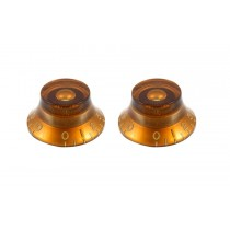 ALLPARTS PK-0140-022 Vintage Style Amber Bell Knobs