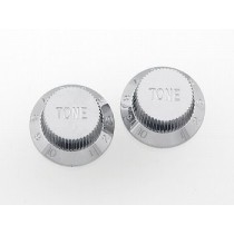 ALLPARTS PK-0153-010 Set of 2 Chrome Plastic Tone Knobs