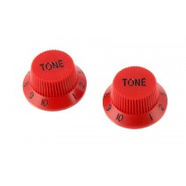 ALLPARTS PK-0153-026 Set of 2 Red Tone Knobs