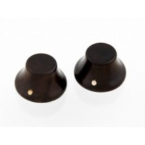 ALLPARTS PK-3197-0R0 Rosewood Bell Knobs - CITES