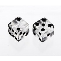 ALLPARTS PK-3250-031 Clear Dice Knobs
