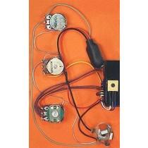 ALLPARTS PU-1274-000 Bartolini Active 2-band Bass Pre Amp