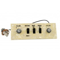 ALLPARTS PU-6421-000 Wired Control Plate for Hofner Style Bass