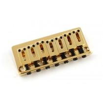ALLPARTS SB-5100-002 Gold 7 String Non-Tremolo Bridge