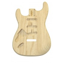ALLPARTS SBAO-L Left Handed Ash Replacement Body for Stratocaster