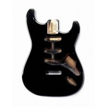 ALLPARTS SBF-BK Black Finished Replacement Body for Stratocaster