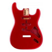 ALLPARTS SBF-CAR Candy Apple Red Finished Replacement Body for Stratocaster