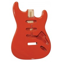 ALLPARTS SBF-FR Fiesta Red Finished Replacement Body for Stratocaster