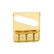 ALLPARTS TB-0020-002 Gold Vintage 3 Saddle Bridge for Telecaster