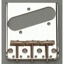 ALLPARTS TB-0020-L01 Left Handed Nickel Vintage 3 Saddle Bridge for Telecaster