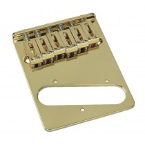 ALLPARTS TB-0030-002 Gold 6 Saddle Gotoh Bridge for Telecaster
