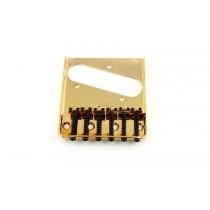 ALLPARTS TB-0033-002 Gold Vintage 6 Saddle Bridge for Telecaster