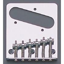 ALLPARTS TB-5034-010 Chrome 6 Saddle Import Bridge for Telecaster