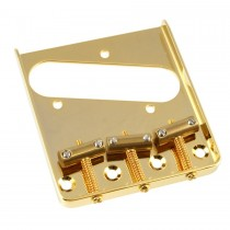 ALLPARTS TB-5125-002 Gold Vintage Compensated Saddle Bridge for Telecaster