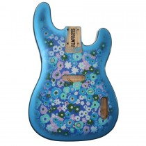 ALLPARTS TBBF-BF Blue Flower Finished Replacement Body for Telecaster Bass