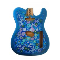 ALLPARTS TBF-BF Blue Flower Finished Replacement Body for Telecaster