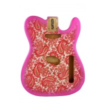 ALLPARTS TBF-PKP Pink Paisley Finished Replacement Body for Telecaster