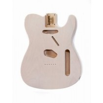 ALLPARTS TBF-WH See Through White Finished Replacement Body for Telecaster