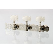 ALLPARTS TK-0124-001 Nickel Classical Tuner Set with Butterfly Buttons
