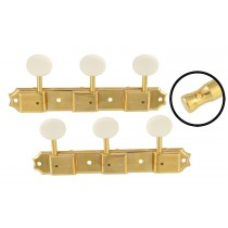 ALLPARTS TK-0700-002 Vintage Style 3x3 Keys Gold