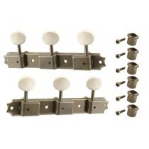 ALLPARTS TK-0700-007 Vintage Style Aged Nickel 3x3 Keys