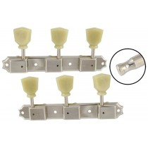 ALLPARTS TK-0708-001 Nickel Vintage Style 3x3 Keys with Keystone Button