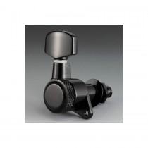 ALLPARTS TK-0974-003 Schaller 6-in-line Black Locking Tuners