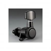 ALLPARTS TK-0974-L03 Schaller Left Handed 6-in-line Black Locking Tuners