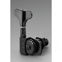 ALLPARTS TK-0990-003 Schaller 4-in-line Black Bass Keys