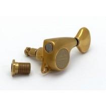 ALLPARTS TK-7268-002 Gotoh 510 6-in-line Antique Gold Locking Tuners