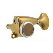ALLPARTS TK-7278-002 Gotoh Delta 6L Locking Tuners Antique Gold