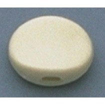 ALLPARTS TK-7710-025 Plastic Oval Buttons White