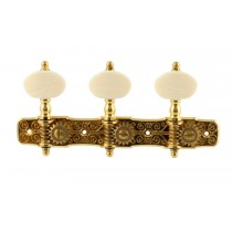 ALLPARTS TK-7953-002 Gotoh Gold Classical Tuner Set with Simulated Ivory