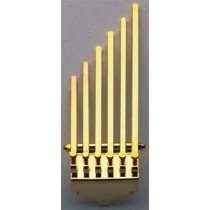 ALLPARTS TP-5475-002 ABM 1501 Finger Style Tailpiece Gold