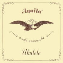 AQUILA SOPRANO 5U UKULELE NEW NYLGUT 1 wound Key of C - GCEA SET Low G  - Strengesett til Ukulele.
