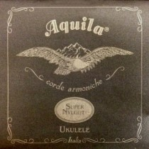 AQUILA SOPRANO 101U UKULELE SUPER NYLGUT® (1 WOUND string) Key of C – GCEA SET Low G - Strengesett til Ukulele.