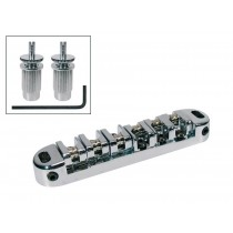 Boston B-200-C bridge for e-guitar. roller bridge model. with studs. chrome