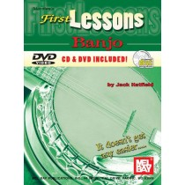 Banjo - First Lessons Banjo Book tab + CD og DVD set