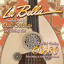 LaBella OU80 World Folk Set Oud Turkish Tuning. Strengesett for Oud
