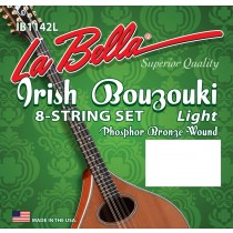 LaBella IB1142L World Folk Set Irish Bouzouki Light. 11-42. Ballend. Strengesett.