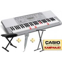 Casio LK-280 - Keyboard med lysende tangenter og sanganlegg. TOTALPAKKE